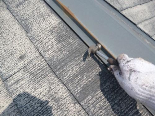 相模原市中央区:屋根鉄部クギの打ち直し