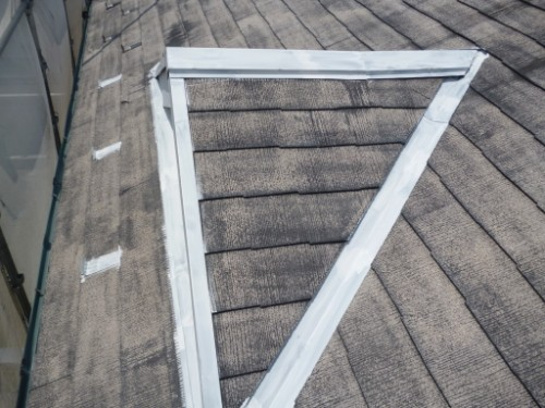 相模原市中央区:屋根鉄部サビ止め後