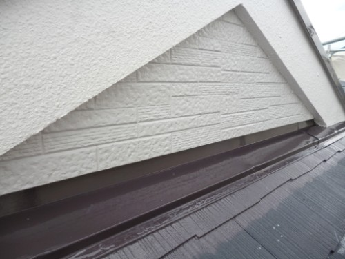 相模原市中央区:下屋根上塗りダメ込み