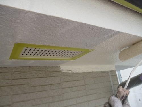 相模原市中央区:軒裏中塗り