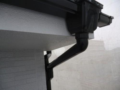 相模原市中央区:雨樋上塗り完了