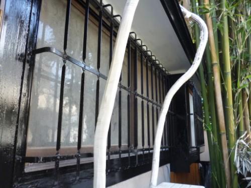 横浜市旭区:格子、木枠上塗り後