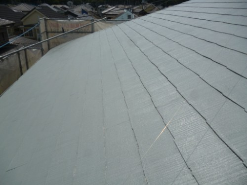 横浜市瀬谷区:屋根上塗り後