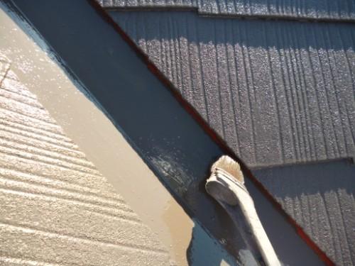 横浜市南区:屋根上塗りダメ込み