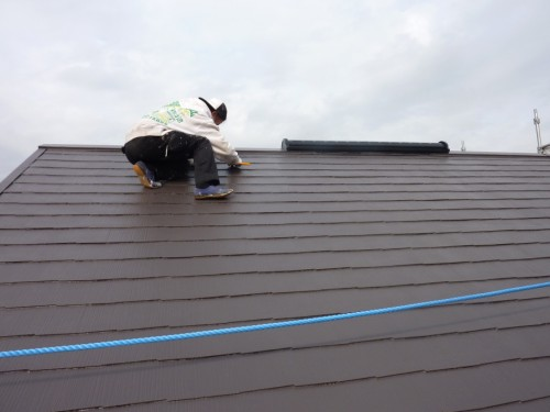 2013年12月9日 都筑区の防水工事:屋根縁切り