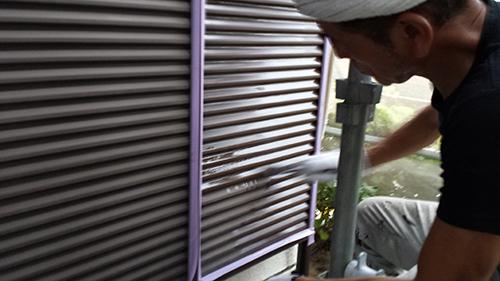 2013年7月13日 川崎市中原区にて外壁塗装・雨戸バインダー