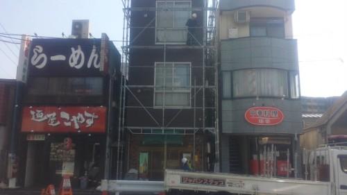 2014年4月23日 神奈川区:足場解体