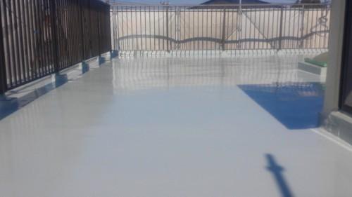 2014年3月23日 旭区市沢町:ウレタン防水1層目完了