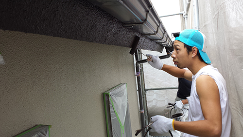 2013年7月4日 川崎市中原区にて外壁塗装・破風