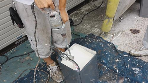 2013年7月3日 川崎市中原区にて外壁塗装・キルコート撹拌