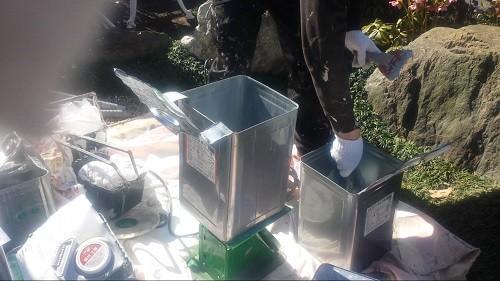 2014年3月22日 旭区市沢町:防水・材料計量