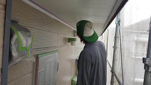 2013年7月23日 南区六ッ川にて外壁塗装:軒