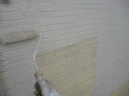 相模原市中央区:サイディング外壁中塗り