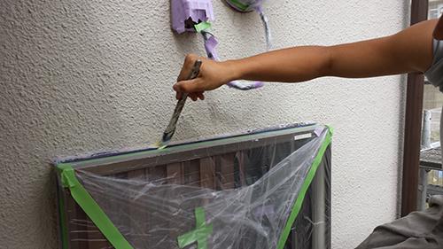 2013年7月3日 川崎市中原区にて外壁塗装・サッシ周りシーラー
