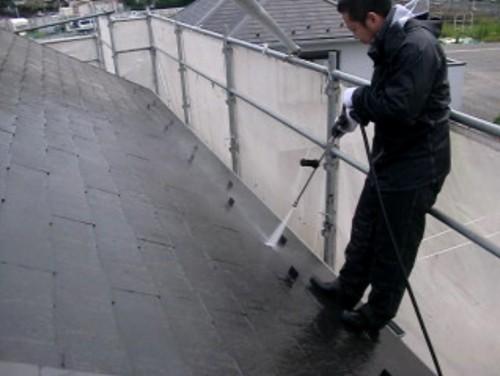 横浜市戸塚区:屋根高圧洗浄