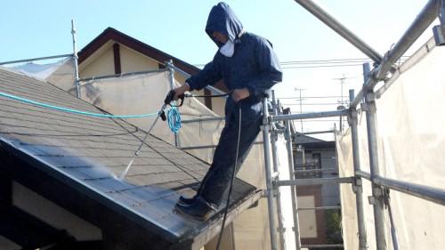 2013年11月26日 都筑区谷山邸:屋根の高圧洗浄