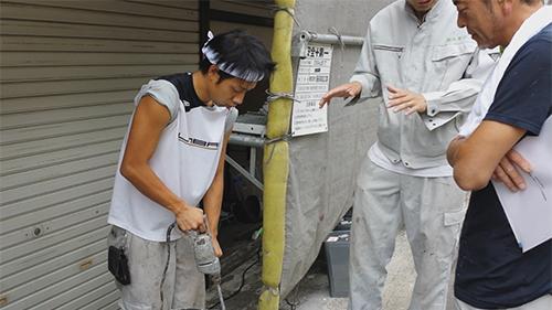 2013年7月3日 川崎市中原区にて外壁塗装・メーカー説明