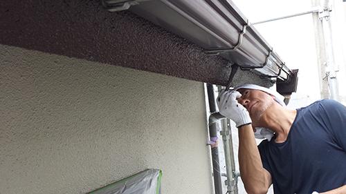 2013年7月4日 川崎市中原区にて外壁塗装・樋塗装