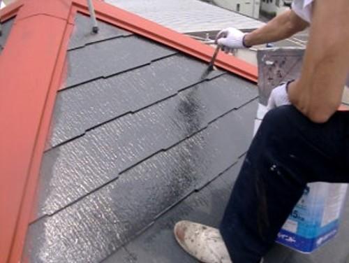 川崎市多摩区:屋根下塗り2