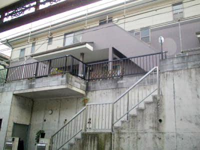 旭区でサイディングとコンクリートの外壁塗装