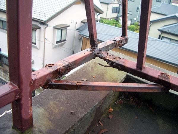 屋上の塩ビシート防水と鉄部塗装