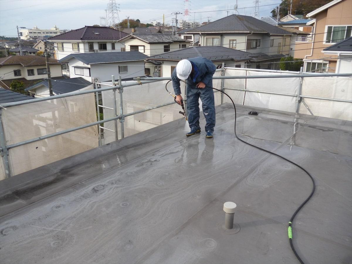 陸屋根の洗浄