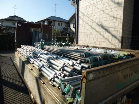 川崎市での外壁塗装、足場工事の準備
