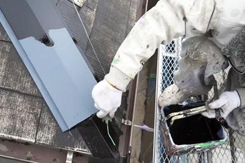 コロニアル屋根を塗る 横浜市瀬谷区
