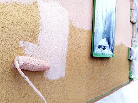 横浜市旭区でリシンの外壁インディフレッシュセラの施工