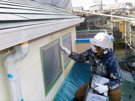 横浜市鶴見区サイディングと屋根塗装、技能士の施工