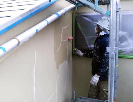 港南区で金属屋根塗装と外壁クラック補修