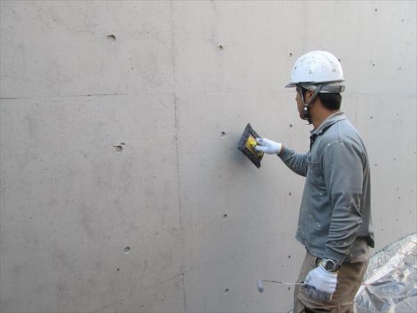 世田谷のモダンなマンションで塗装開始しました