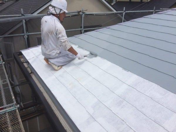 屋根塗装のパーフェクトクーラーベスト、サーモグラフィーでの温度変化
