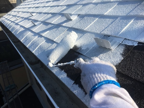 13時30分・施工現場の屋根裏の温度