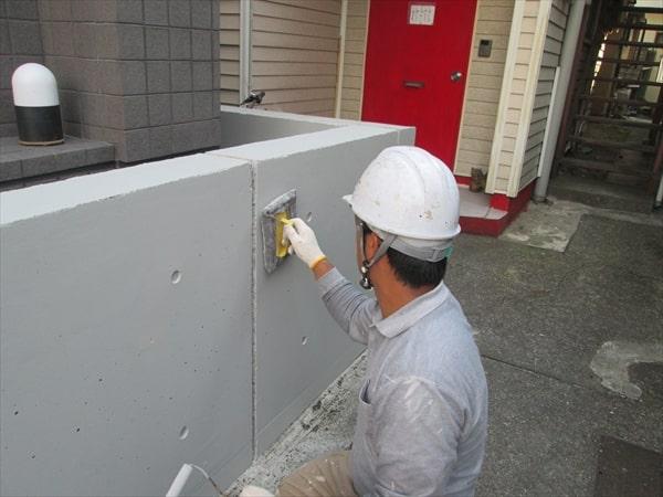 世田谷のコンクリート外壁のマンションをランデックスコートで塗装