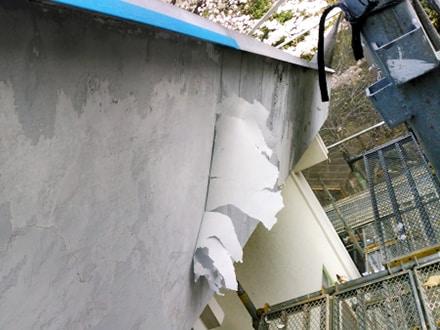 超回復。外壁の剥がれ、屋上ひび割れの塗装と防水