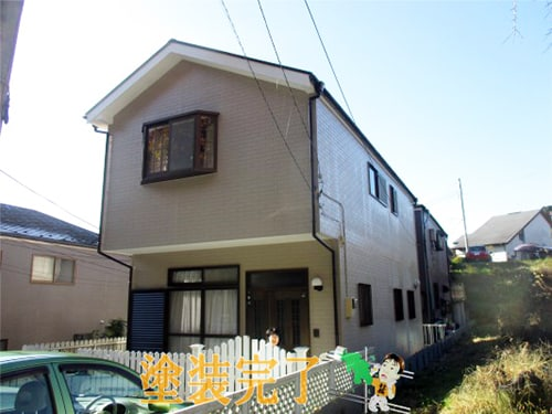 サイディング、屋根、ベランダ防水、木部傷みの全部塗装~鎌倉より