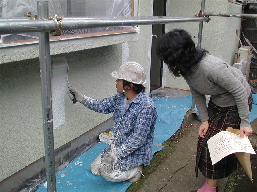 適正希釈をした塗料での塗装の確認