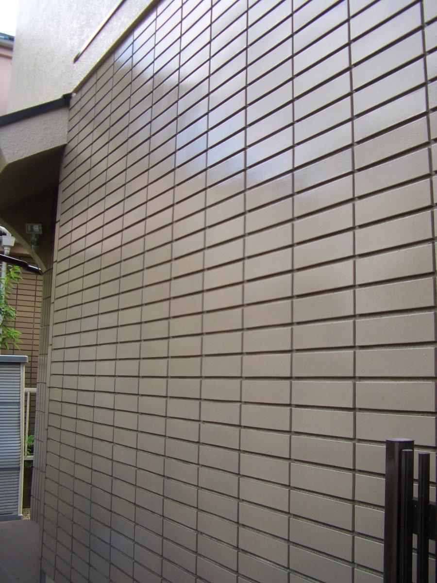 外壁タイルクリヤー塗装