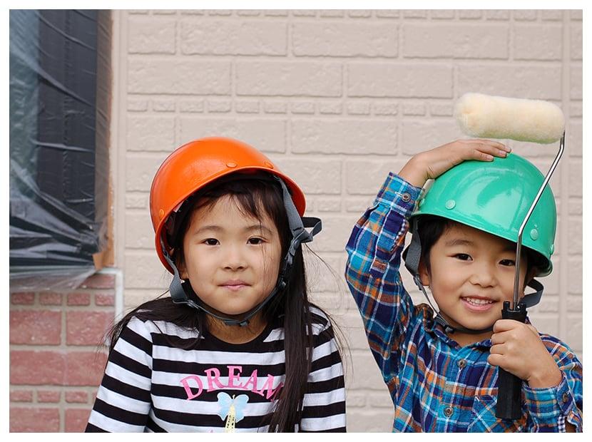 子どもとヘルメット