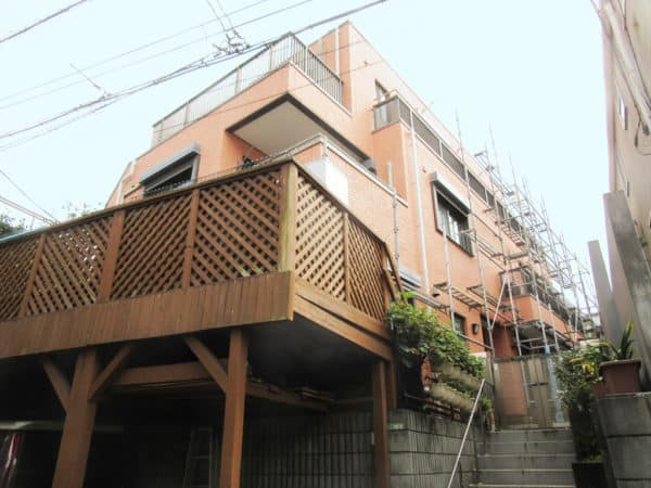 世田谷区の大きな三階建てALC住宅外壁塗装と屋上防水