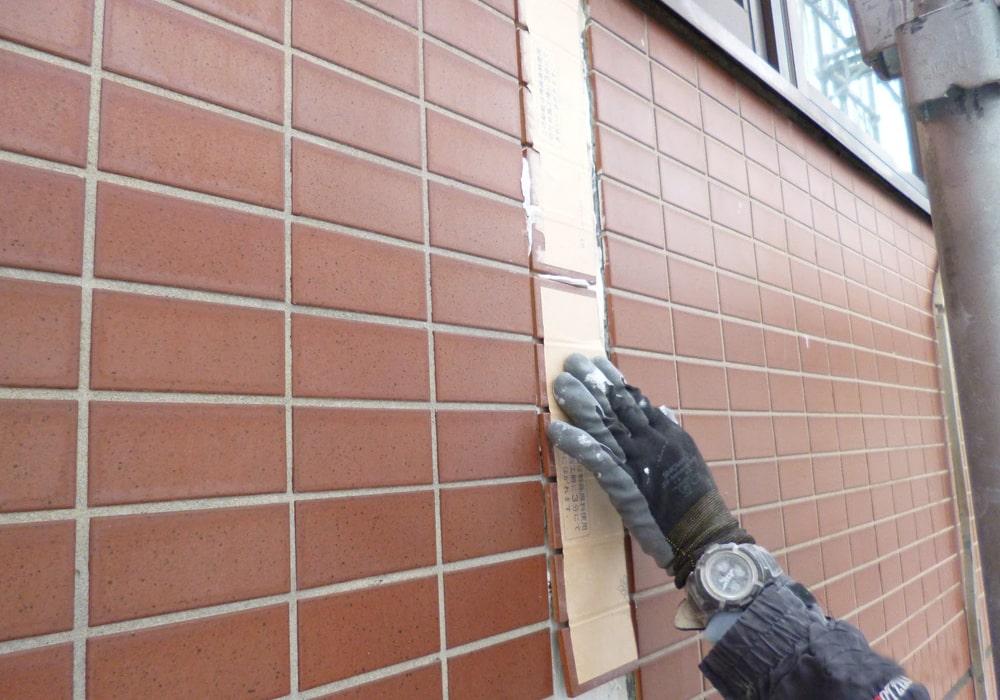 ALCの上から外壁タイルの貼り替え