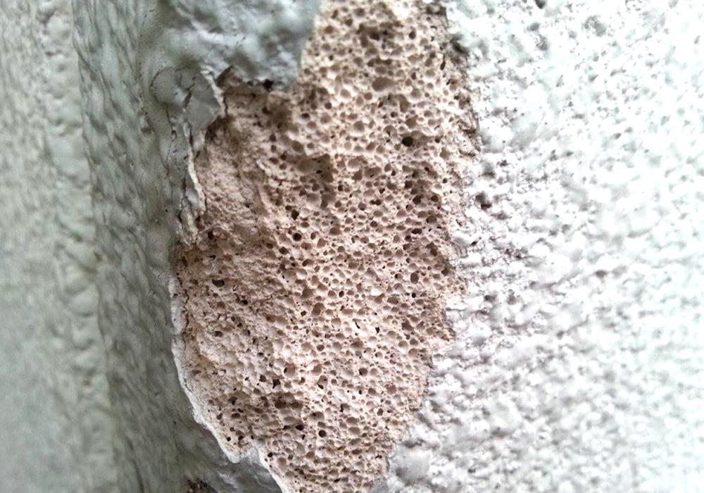 ALCの気泡コンクリート断面