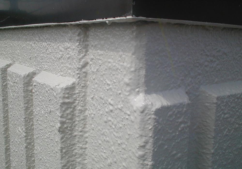 コーナー部の補修後塗装