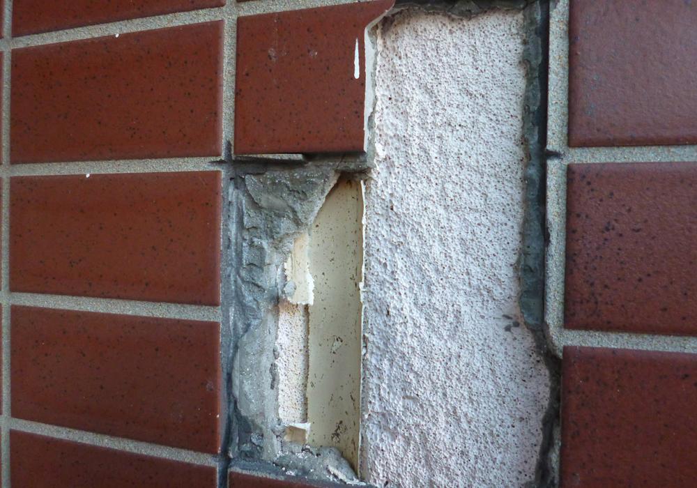 外壁タイルがはがれたALC