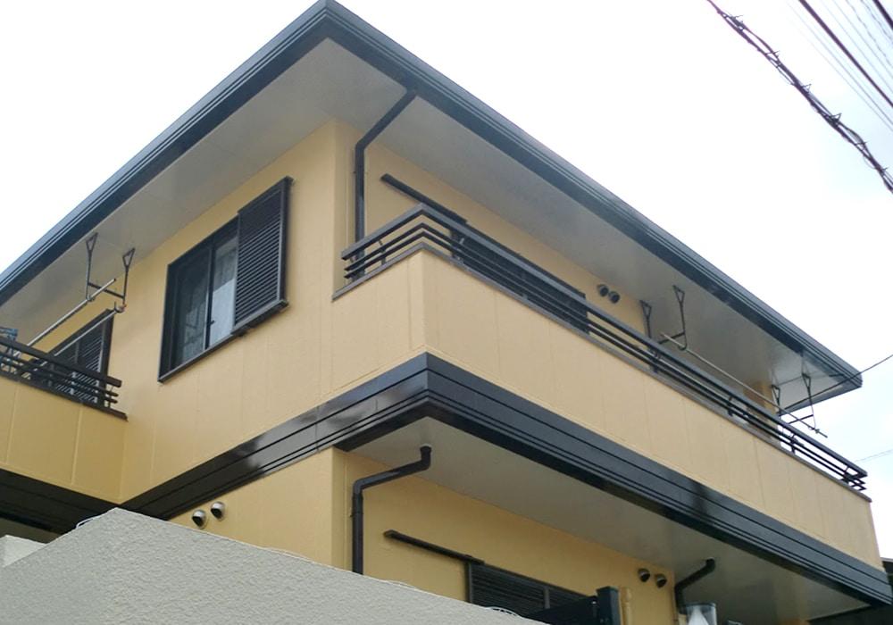 ALC外壁の塗装完成