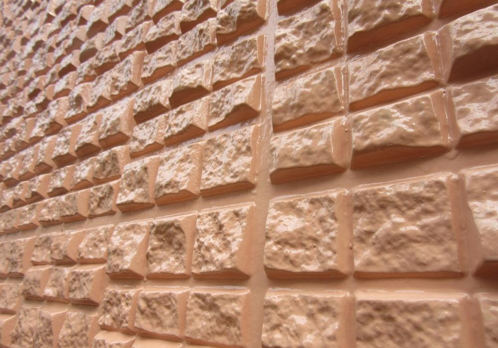 世田谷区にて施工したブロック状のセキスイALC外壁