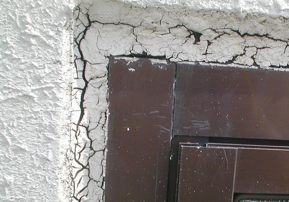 窓枠サッシのシールの劣化
