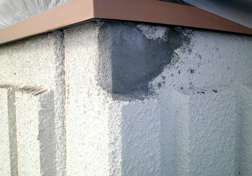 コーナー部のモルタル欠損補修