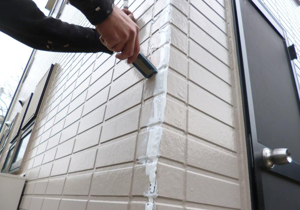 凍害のシールパテ処理